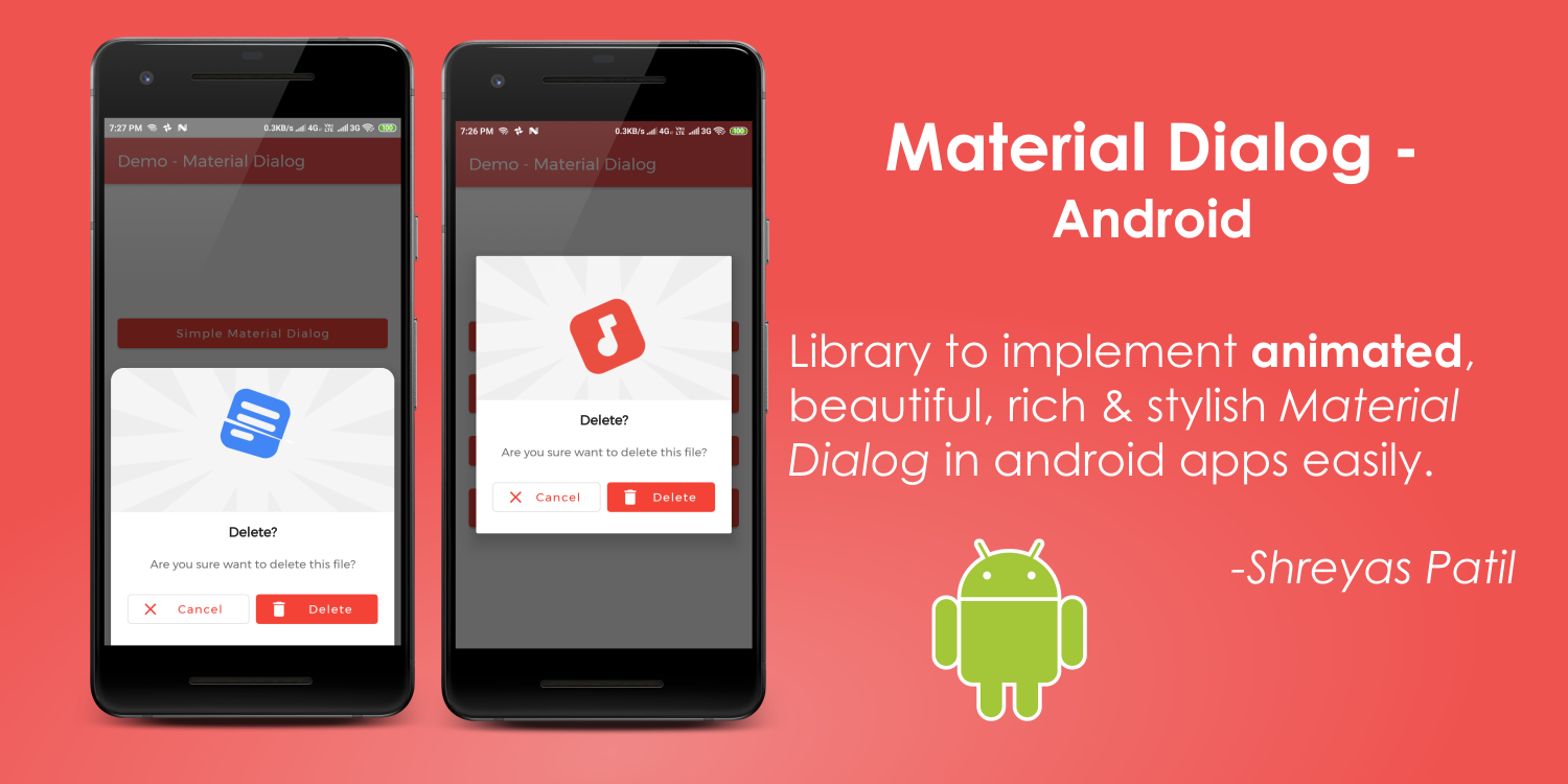 Animated Material Dialog — Android 📱 😍🎨